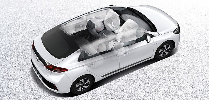 Although It Has A More Sporty Earance Hyundai Ioniq Is Car That Inside Hides Very Good E Thanks To Its Wide Body The Between Rows