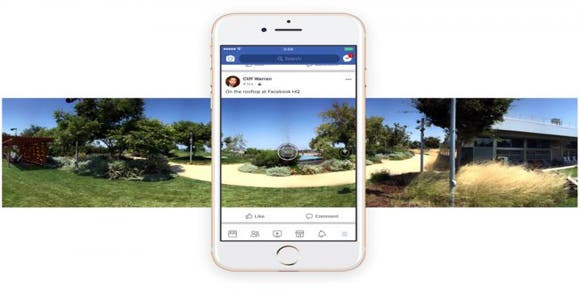 Facebook ya reproduce video en 360 grados