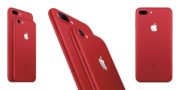 Apple lanza iPhone 7 y iPhone 7 Plus en color rojo