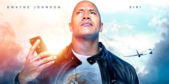Siri protagoniza película con 'The Rock'